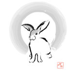 Rabbit, 2008, computer drawing, 30×30