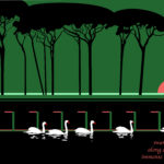 Swans, 2010, computer drawing, 35×60