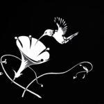 Hummingbird, 2012, scratchboard, 30×40