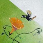 Colibri 1, 2012, encaustic, 40×40