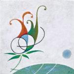 Sonata Andante, 2012, encaustic, 40×40