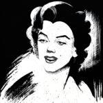 Marilyn Monroe, 2012, scratchboard, 40×30