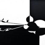 Gravitation, 2013, scratchboard, 20×30
