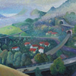 Frinvillier, 2016, Öl auf Leinwand, 60×96